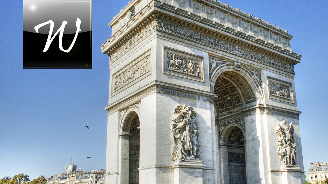 arc de triomphe paris hd youtube. Black Bedroom Furniture Sets. Home Design Ideas
