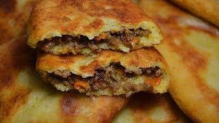 КАРТОФЕЛЬНЫЕ ПИРОЖКИ С ФАРШЕМ–рецепт пирожков, жареных на сковороде, с фаршем из картофельного теста