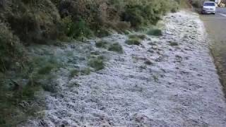 Taiwan's Yushan (Jade Mountain) was greeted by frost on Sunday (Nov. 17, 2019)
