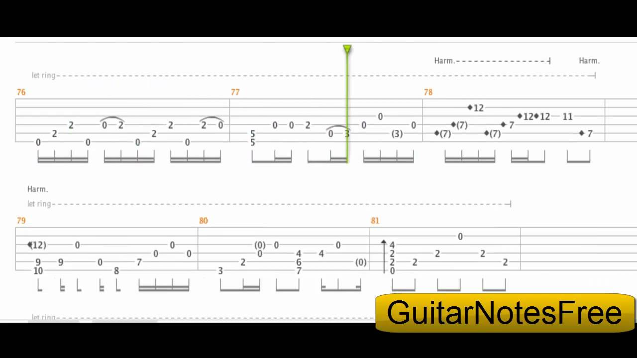 Nothing Else Matters - Sungha Jung Guitar Tab HD - YouTube