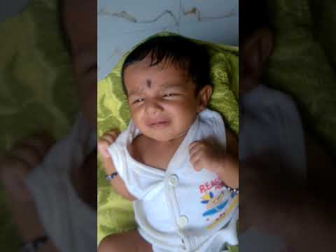Day 38 Newborn Cute Baby Girl Drishta Saying Good Morning Youtube