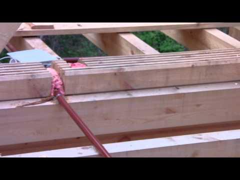 Монтаж скрытой проводки в деревянном доме 08