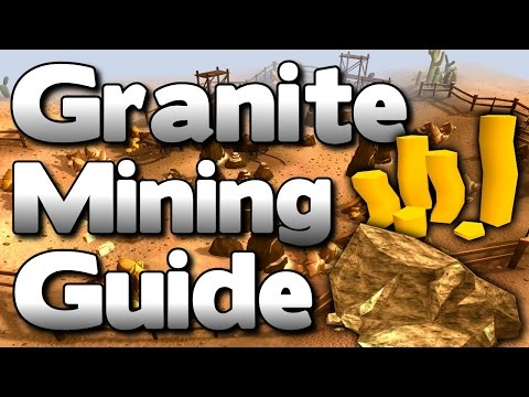 Runescape - Granite Mining Guide 1.5M GP/Hour & 55K XP/Hour