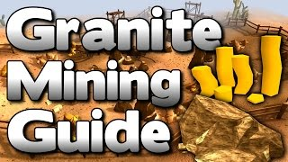 Runescape - Granite Mining Guide 1.5M GP/Hour & 55K XP/Hour