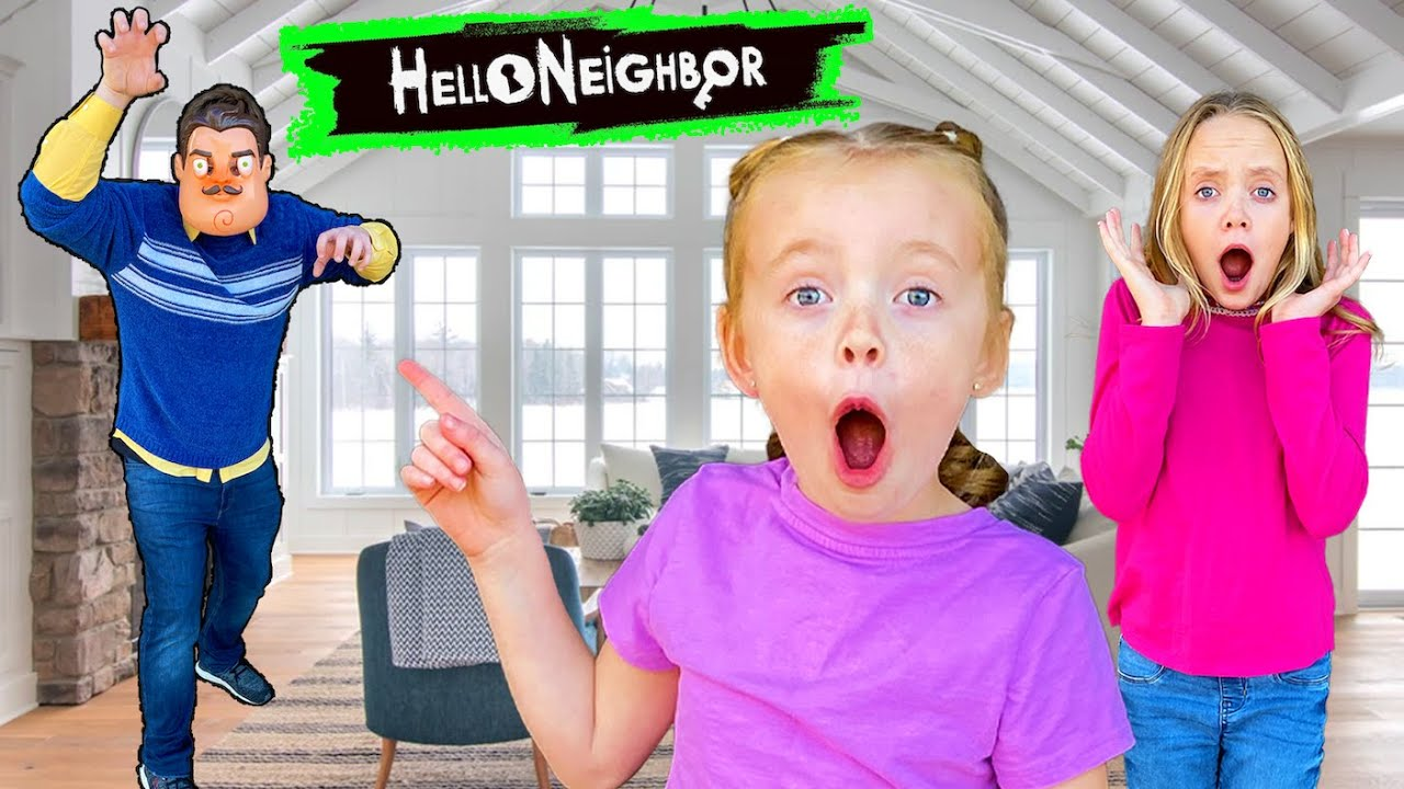 Hello Neighbor Hides Our Toys! Trinity and Beyond Toys and SuperHeroKids Toys! Kids Fun TV!