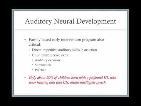 Auditory Neural Development