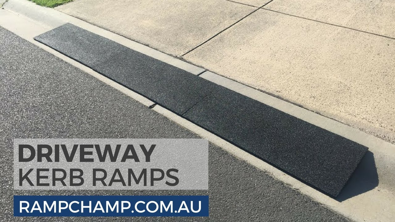 Kerb Ramp Made from 100% Recycled Rubber for Rolled-Edge Kerb