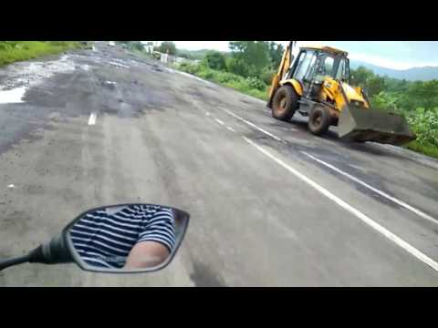 Condition of Two Years Back Built Badlapur Panvel Highway.