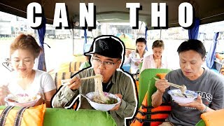 BREAKFAST ON A BOAT - Viet American Family Visits VIETNAM + Something I never ate before!