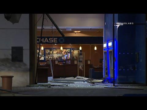 Chase Bank Break in Storefront Gone / El Segundo   RAW FOOTAGE