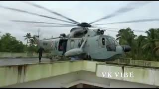 Helicopter landed on the terrace of house at Kerala