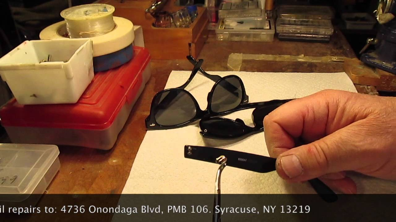 Ray Ban Wayfarer Hinge Repair Youtube