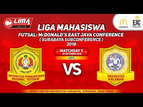 UPN VS UNAIR LIMA Futsal : McDONALD'S EAST JAVA CONFERENCE (SURABAYA SUBCONFERENCE) 2018