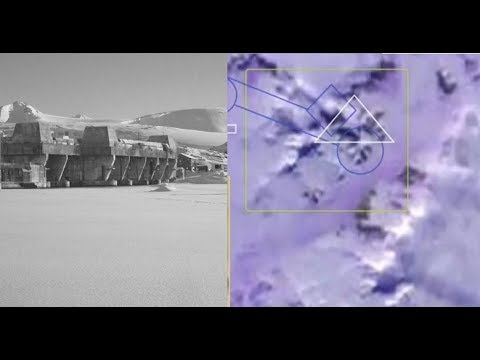 Antarctica Giant Megalithic structure in the shape of a Swastika visible from Space