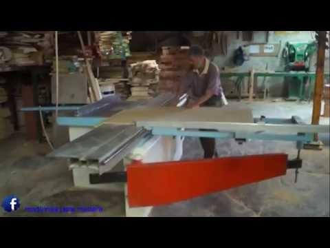Sierra escuadradora casadei maquinas para madera youtube - Sierra para cortar madera ...