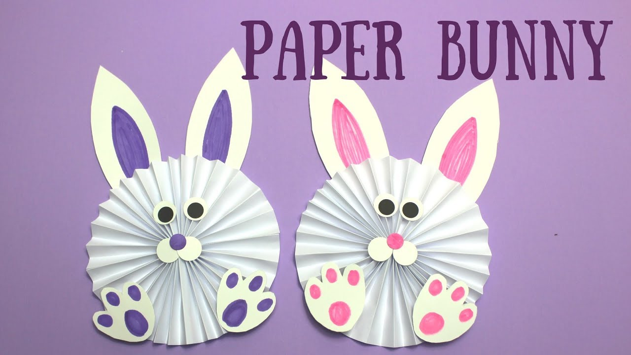 How to make easter bunny paper chains