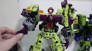 Combining NBK TF Engineering (not Transformers Devastator) for real this time. And Review