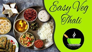 Easy Veg Thali | Special Indian Veg Thali | Lunch Menu Ideas | Veg Lunch Menu Recipes
