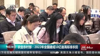 [今日环球]农业农村部:2022年全国建成10亿亩高标准农田  CCTV中文国际