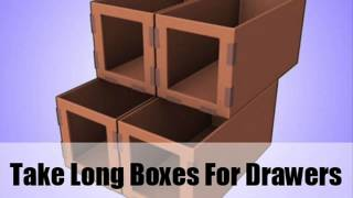How To Make A Storage System With Cardboard Box