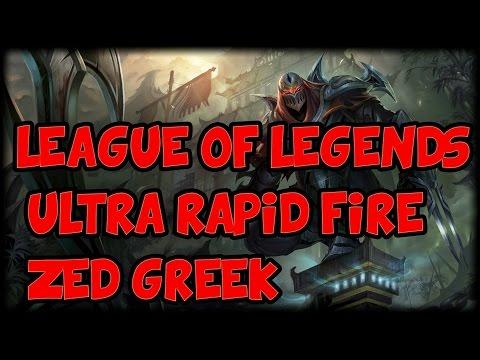 League of Legends Greek  - Zed Mid - URF- MrFantasticer [31]
