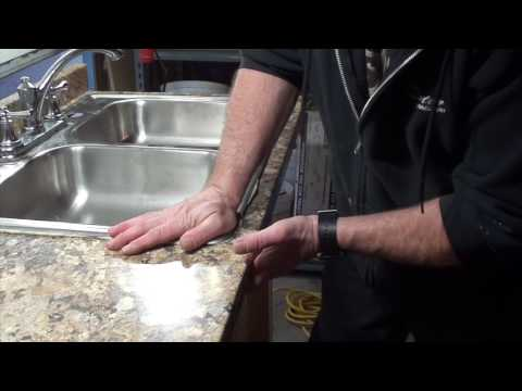 How to Cut A Counter Top For A  New Kitchen Sink