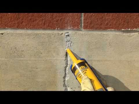 how to use elastomeric foundation crack sealer