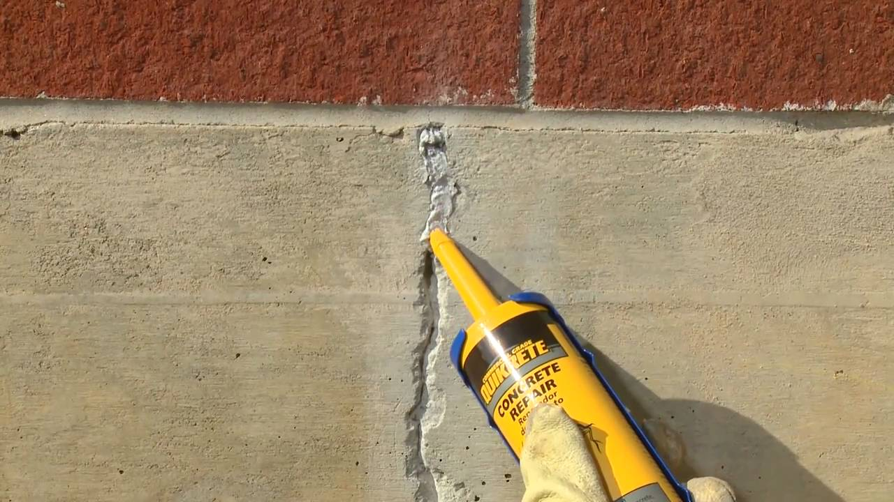How To Repair Cracks In Vertical Concrete Surfaces With Quikrete Youtube