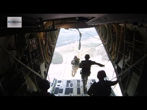 US Marines Parachute Jump @ 1,200 Feet: Don't Try This at Home!