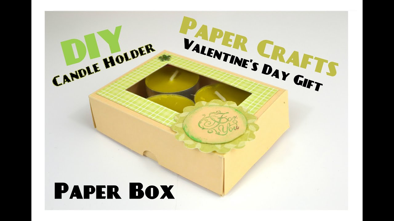 Paper Box Candle Holder Diy Paper Crafts For Teenagers