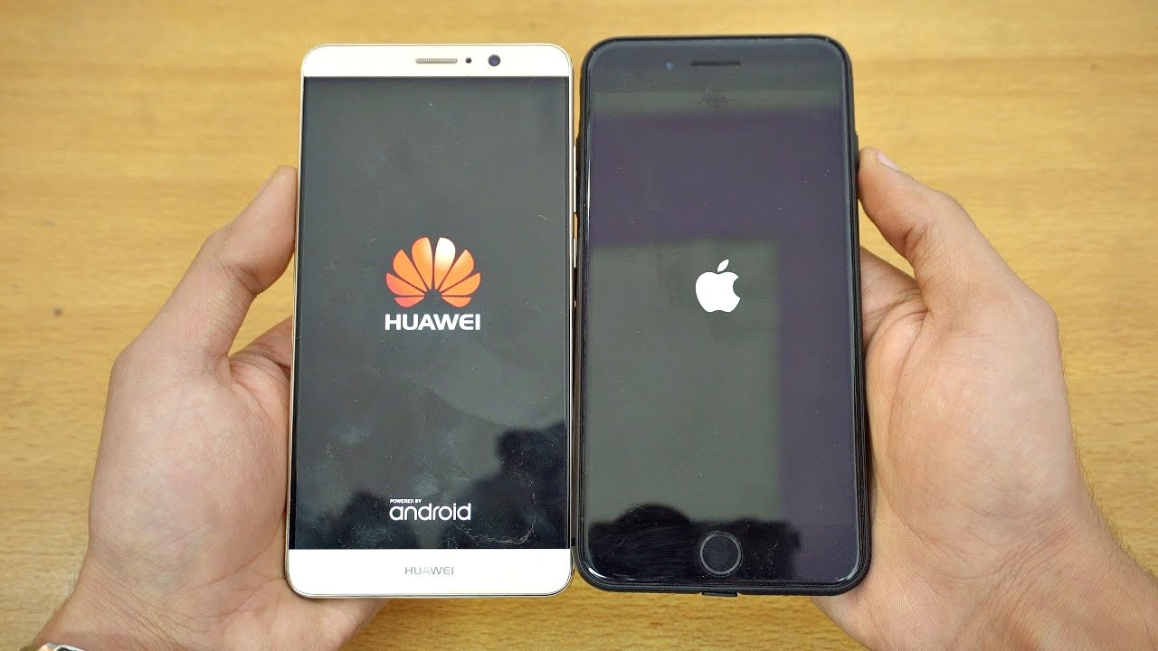 Huawei Mate 9 vs iPhone 7 Plus - Speed Test! (4K) - YouTube