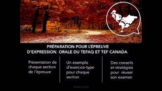 Expression orale du TEF Canada et TEFAQ-ENGLISH SUB