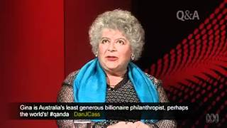 Miriam Margolyes on Gina Rinehart