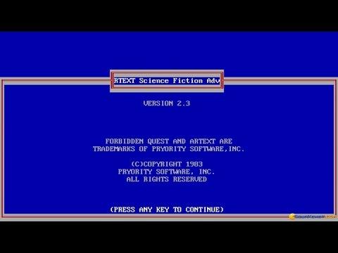 Forbidden quest gameplay (PC Game, 1983)