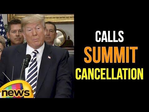 US President Donald Trump Calls Summit Cancellation a Set Back for the World | Mango News