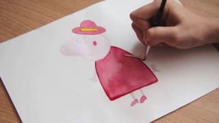как нарисовать Маму Свинку Пеппу