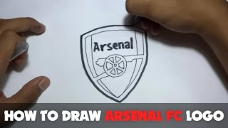 How to Draw a Cartoon - Arsenal FC Logo (Tutorial Step by Step)