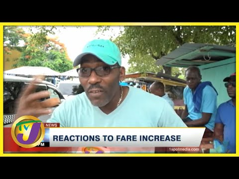 Reactions to Fare Increase   TVJ News - August 13 2021