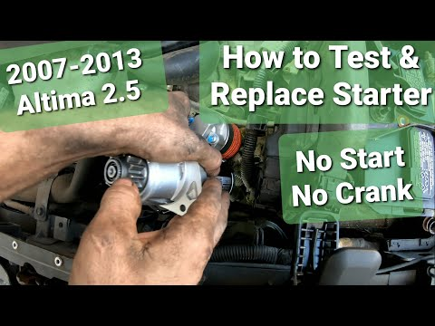 Nissan Altima Starter Replacement & How to Test Starter 2.5 2007-2013