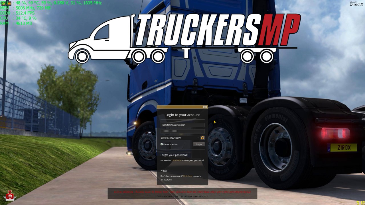 (Let's Play) Euro Truck Simulator 2 MP + Idiots on the road
