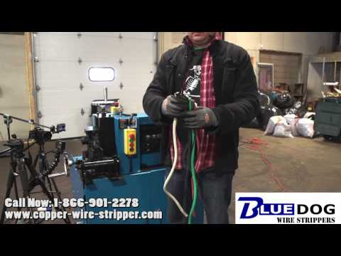 Industrial heavy duty cable stripping machine. Bluedog ™ BWS 80 HD