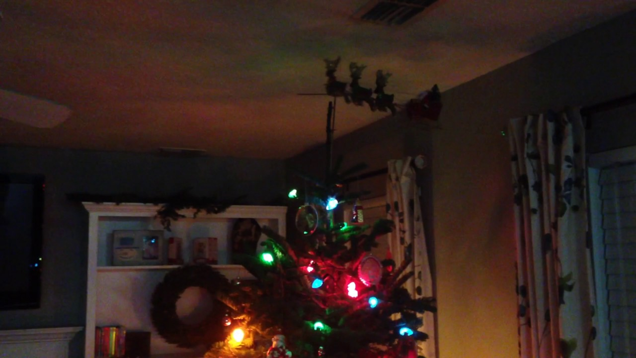 retro christmas tree with vintage 50s 60s lights and decorations