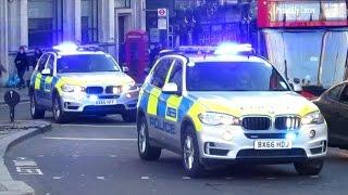 new armed police arv s bikes x4 responding w bullhorn