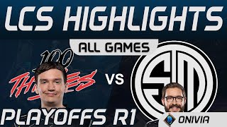 100 vs TSM ALL Games Highlights LCS Spring Playoffs 2020 100 Thieves vs Team Solo Mid by Onivia