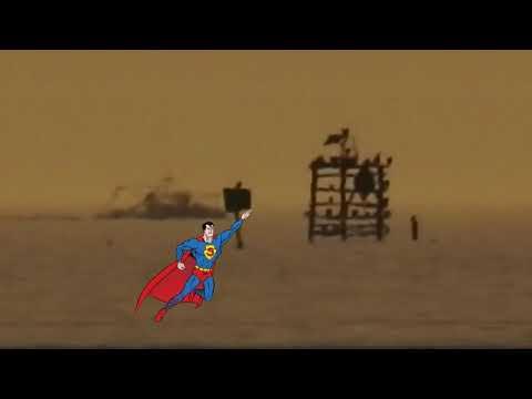 Mirrored Superman Refraction Saving the Globe   Flat Earth
