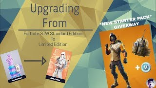 * GIVEAWAY NEUE SOMMER STRIKER STARTER PACK * Fortnite STW Standard Edition To Limited Edition Gameplay
