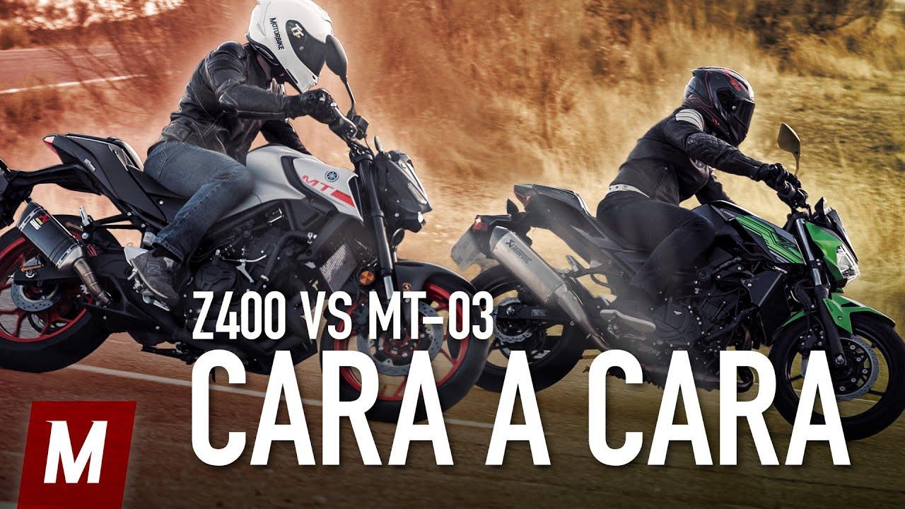 Kawasaki Z400 vs Yamaha MT-03 | Comparativa, prueba y opinión