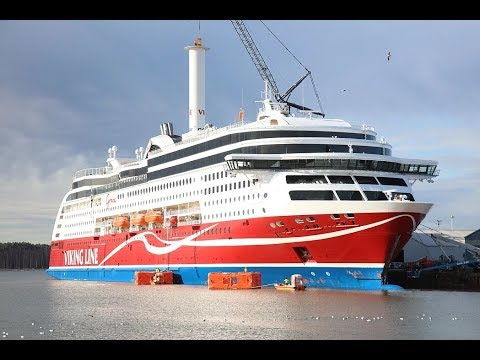 Mechanical sailing! World's first wind assisted passenger cruise ship M/S Viking Grace ferry debuts