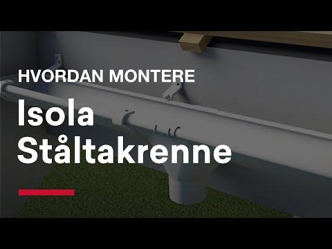 Montering Isola Ståltakrenne
