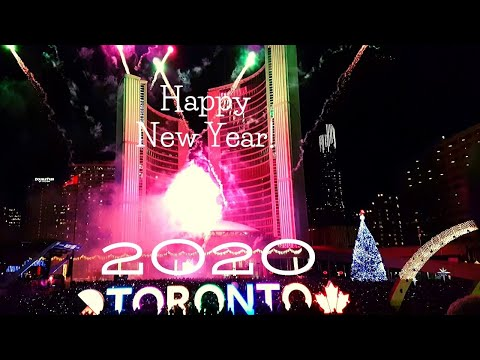 Toronto Happy New Year Fireworks 2020  (Nathan Phillips Square)